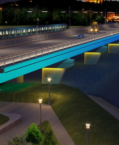 Освітленням Мосту через Русанівську протоку