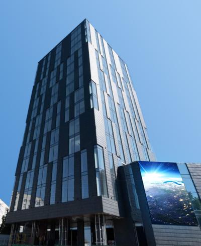 Black Wood Tower — LED екран
