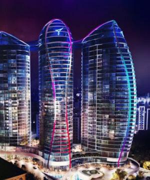 Taryan Towers – освітлення рецепції